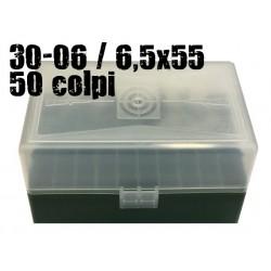 CPT scatola portacolpi 30-06 / 6,5x55 50 colpi